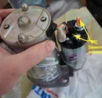 Как замкнуть стартер напрямую ваз 2109