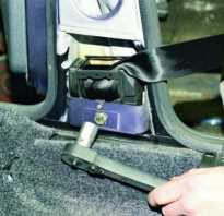 Установка задних ремней безопасности на ваз 2109