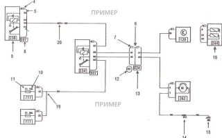 Схема электропроводки лада ларгус