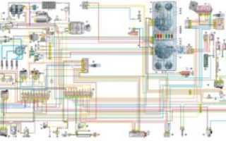 Электросхема газ 2705 двигатель 402