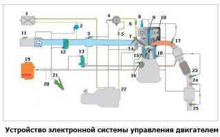 Электронная система управления двигателем автомобиля