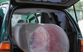 Перевозка поликарбоната на легковом автомобиле