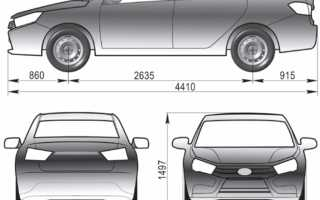 Лада веста габаритные размеры автомобиля