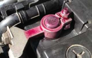 Смазка клемм аккумулятора автомобиля