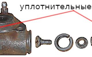 Ремкомплект заднего тормозного цилиндра ваз 2110