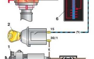 Порядок установки зажигания ваз 2106