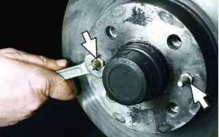 Снятие тормозных дисков ваз 2110