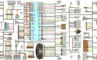 Электрическая схема лада гранта люкс