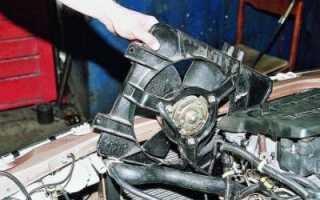 Снятие и установка радиатора охлаждения