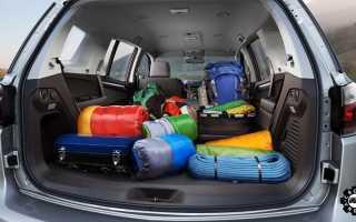 Ширина багажника нива шевроле