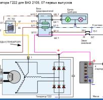 Схема подключения генератора г222 на ваз 2107