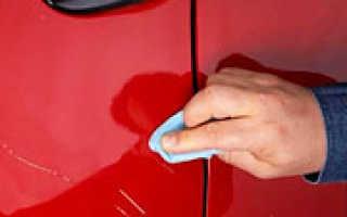 Как убрать царапины на лаке автомобиля