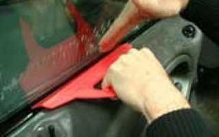 Тонировка стекол автомобиля своими руками видео
