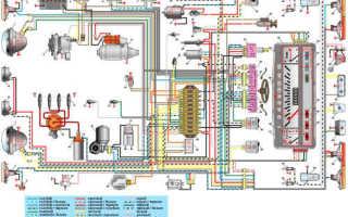 Электросхема ваз 21013 с описанием цветная