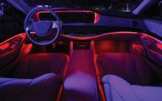 Установка дополнительного освещения в салон автомобиля