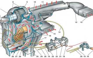 Снятие мотора печки ваз 2114