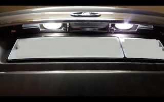 Замена ламп подсветки номера приора универсал
