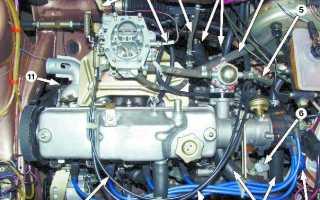Строение двигателя ваз 2109