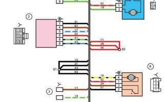 Модуль двери водителя приора схема